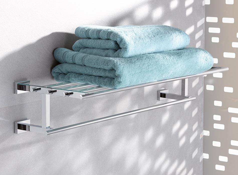 Grohe Essentials Cube Półka Na Ręczniki Z Wieszakiem