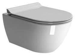 GSI Pura - miska WC bezkołnierzowa, podwieszana 50 cm + deska wolnoopadająca cienka