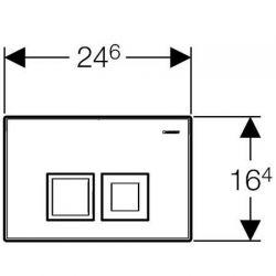 Geberit Delta50 - przycisk uruchamiający do spłuczek podtynkowych UP100