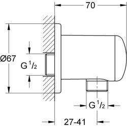 Grohe Relexa Plus - kolanko przyłączeniowe ścienne