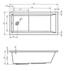RIHO Lusso Plus - wanna prostokątna 170 x 80 cm